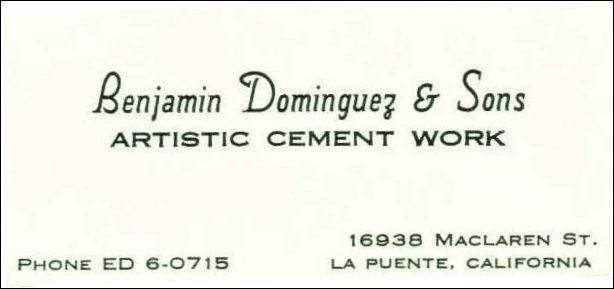 [Benjamin Dominguez business card]